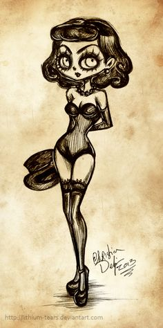 Pinup+Girl+by+Lithium-Tears.deviantart.com+on+@deviantART
