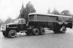 Studebaker met Daf trailer opbouw van Fa Smulders 1946 van Aveha