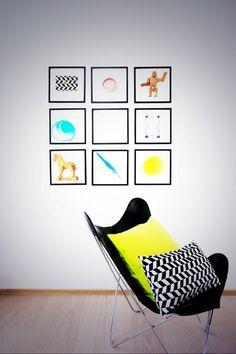 neon | chair | wall