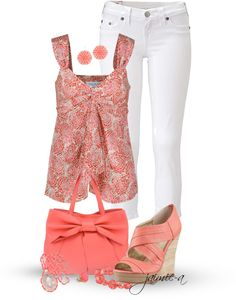 """""""Floral Cami & White Skinny Jeans"""" by jaimie-a ❤ liked on Polyvore"""