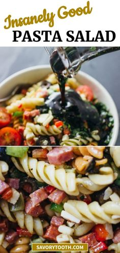 Easy Healthy Recipes, Quick Easy Meals, Healthy Meals, Healthy Food, New Cooking, Cooking Recipes, Antipasto Salad, Best Pasta Salad, Paste Recipe