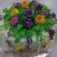 GriYa Foods: Cara Menghiasi dan melapisi  Kue ulang Tahun dengan butter cream. www.griyafoods.com Birday Cake, Birthday, Birthdays, Dirt Bike Birthday, Birth Day
