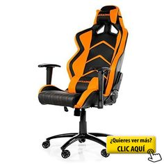 AKRacing Player-Silla para videojuegos para ordenador, color negro y naranja #silla #ordenador