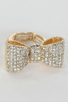 Monica's Closet Essentials | multi rhinestone ribbon ring | Online Store Powered by Storenvy