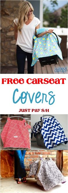 Do you have an adorable Baby... or do you know someone that does?  Happy babies are the most adorable!  Keep baby very cozy and happy with this deal on FREE Carseat Covers for Babies! {just pay s/h!}   TheFrugalGirls.com
