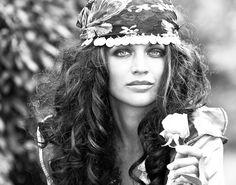 gypsy--hair, makeup and bandana
