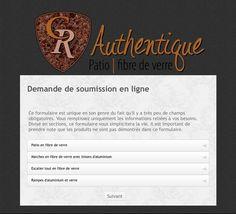 C.R. Authentique | Produits de fibre de verre au Québec - Soumission qui vous donne 5% de réduction