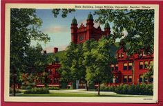 James Millikin University Decatur Illinois IL postcard