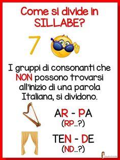 1 – 2 Elementare | AiutoDislessia.net Italian Grammar, Italian Language, Italian Quotes, World Languages, Learning Italian, Primary School, School Projects, Kids Learning, Homeschool