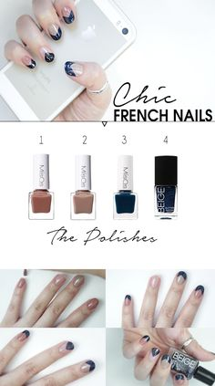 How to get Deep chic nude french nails at home! Get the trendy french nails look in a few simple steps. Perfect for any season and occasion!