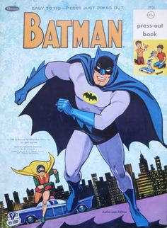 Vintage Whitman Press Batman Activity Book Ca 1967