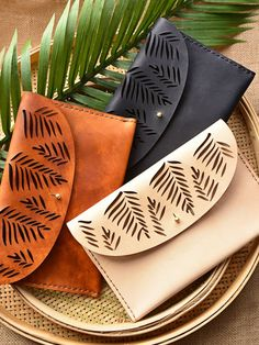 Tropical Clutches - Available in different colours - genuine leather - Marco Visconti - Hong-Kong Leather Clutch, Leather Bags, Mixed Media Canvas, Leather Working, Leather Craft, Hong Kong, Purses And Bags, Personal Style, Pouch