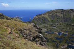 Rapa Nui / Easter Island / Isla de Pascua. Not so unknown Rano Kau. Rano Kau is the most beatiful place on the Island and it is worth going just to see it! Rapa Nui landscape (15). Photo: Mike Seager Thomas, UCL Rapa Nui Landscapes of Construction Project. You are welcome to use/ circulate the photo but please credit it to the project