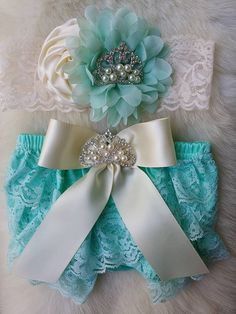Aqua Bloomers/Baby Bloomers/Ruffle by OohLaLaDivasandDudes on Etsy