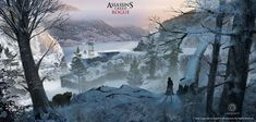 Town Overlook - Characters & Art - Assassin's Creed Rogue