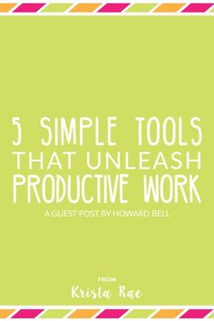 Intuitive software is blogger's best friend since the first weblogs and zines. This article mentions 5 tools that will unleash your productive work.