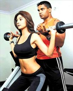 Just like Bipasha basu, Shilpa Shetty too launched a fitness DVD. Well, who can forget the superbly curvaceous Shilpa Shetty from the 'Shut Up and Bounce' song in Dostana ??