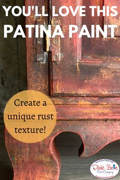 Develop a rustic look in reddish with Dixie Belle Fresh paint in Barn Red in addition to the Patina Paint! Try out a vibrant color about your painted furniture! Rustic Painted Furniture, Chalk Paint Furniture, Red Distressed Furniture, Patina Paint, Rust Paint, Patina Metal, Trailer Decor, Dixie Belle Paint, Red Barns