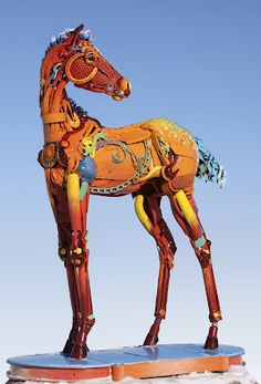 THE COLT OF MANY COLORS by John Lopez Triple Creek Ranch Resort inDarby, MT