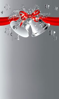 Download 480x800 «Silver Christmas Bells» Cell Phone Wallpaper. Category: Holidays