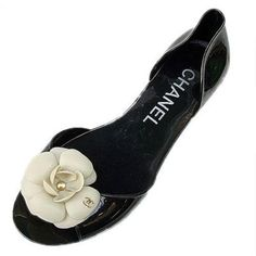 Chanel Camellia Casual Black Shoes