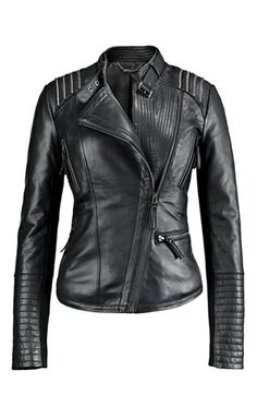 Bernardo Asymmetrical Leather Moto Jacket | Nordstrom