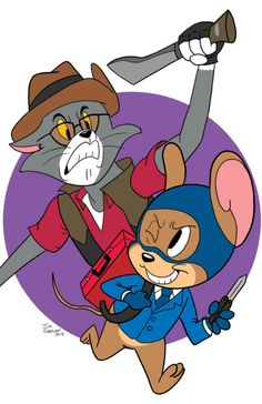 """thelillengi:  THIS NEED TO BE CHARED ON TUMBLR! <3 please notice, this is NOT my art ^^"""" I just had to show you guys find it on DeviantArt here:http://jimferno.deviantart.com/art/TF2-A-Game-of-Cat-and-Mouse-302133129"""