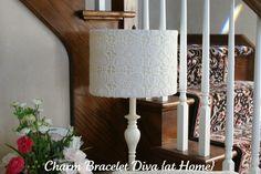 DIY Lace Lamp Shade