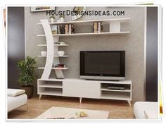 TV Stand Unit Cabinet Ideas Latest 2020 - House Designs Tv Unit Furniture, Living Room Tv, Tv Wall Decor, White Tv Unit, Living Room Tv Unit, Wall Unit Designs, Living Room Tv Stand, Living Room Entertainment Center, Tv Room Design