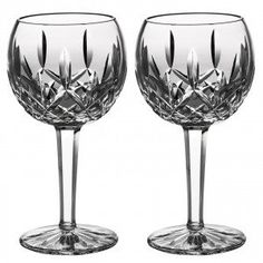 Drink your favorite red wines in the Waterford Lismore Balloon 8 oz. Wine Glass - Set of 2 . This fine crystal glass is part of the Lismore Balloon Collection,. Crystal Wine Glasses, Crystal Stemware, Clear Crystal, Waterford Lismore, Waterford Crystal, Wine Bucket, Wine Glass Set, Vintage Glassware, White Wine