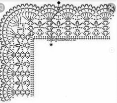 Crochet Border Patterns, Crochet Blanket Edging, Lace Patterns, Crochet Trim, Filet Crochet, Baby Knitting Patterns, Lace Knitting, Crochet Designs, Crochet Doilies