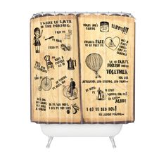 In A Day Retro Shower Curtain