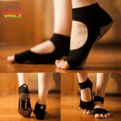 Mary Jane Open Toe Non Slip Yoga Socks