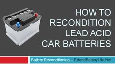 Reconditioning batteries is very simple procedure and every single person can do it. Lead Acid Batteries, are probably among the MOST environmentally safe batteries. The kind used in MOST big vehicles, like motorcycles, cars, trucks, boats, and ships. Reconditioning old batteries is a great way to help the environment!