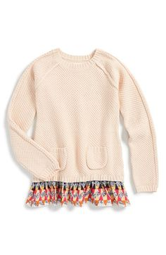 Tucker + Tate Layered Ruffle Sweater (Toddler Girls, Little Girls & Big Girls) | Nordstrom