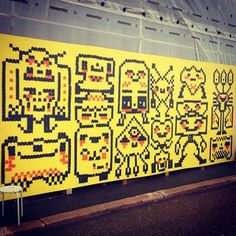 My wallpainting is done! x in pretty central place in next to and Took 5 evenings. Mural Painting, Helsinki, Finland, Pixel Art, Graffiti, Random Stuff, Street Art, Sketches, Pretty