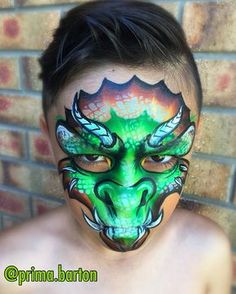 "196 Likes, 8 Comments - Prima H. Barton (@prima.barton) on Instagram: ""Modifying my Full Face Dragons... still studying... one stroke dragon OTJ style. Products used:…"""