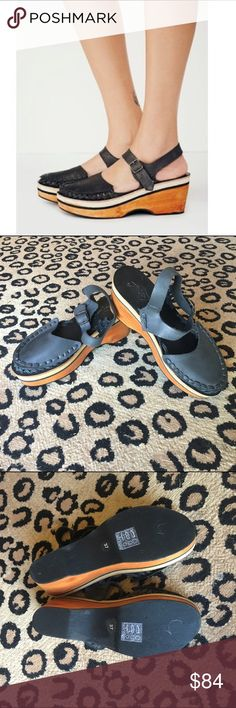 Free People Magnolia Slope Clog Mint condition. Worn for an hour. Very hard to find. Free People Shoes Mules & Clogs