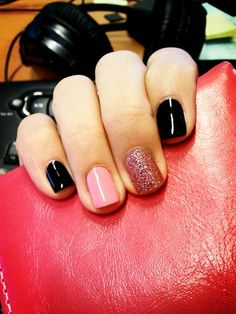 black, pink and glitz