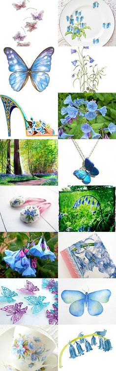 Bluebells and Butterflies ~ Spring 2015 Gift Ideas ~ by Kathy Carroll on Etsy--Pinned with TreasuryPin.com #Estyhandmade #giftideas #freshfinds