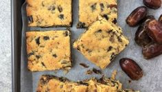 Easy Date Slice Recipe - Melt & Mix · Chef Not Required. Yummy Treats, Sweet Treats, Yummy Food, Baking Tins, Baking Recipes, Date Slice, Date Scones, Date Loaf
