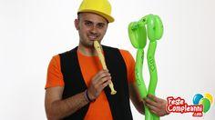 Balloon Snake, we make the king of the snakes, The cobra.  Palloncini modellabili - Volete imparare a creare uno dei serpenti più pericolosi al mondo?? Allora seguite le istruzioni di Mr. Nany e scoprirete anche voi come realizzare il Cobra Reale utilizzando un solo palloncino per sculture