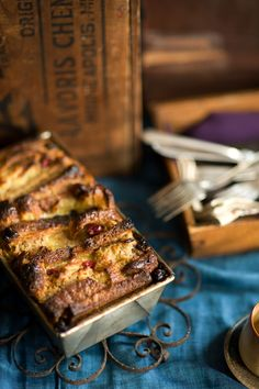 Licking the plate - cranberry maple bread pudding