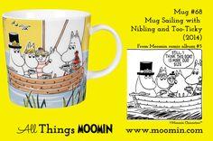 Mug #68 Moomin mug Sailing with Tooticky and Nibling