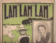 Lam' Lam' Lam' Vintage Sheet Music, Music by Ben. M. Jerome, Black Americana Artwork, 1900's Southern Popular Music, Black Cream Green Art by BettywasaBombshell on Etsy