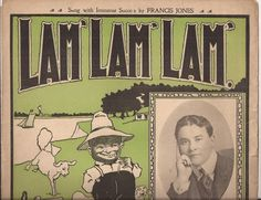 Lam' Lam' Lam' Vintage Sheet Music, Music by Ben. M. Jerome, Black Americana Artwork, 1900's Southern Popular Music, Black Cream Green Art by BettywasaBombshell on Etsy