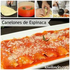 Canelones de Ricotta con Espinaca
