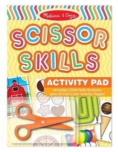 Scissor Skills Activity Pad | Decorate-your-own Party Favors | Melissa and Doug