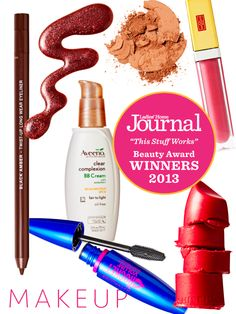 "The winners in the makeup category from the 3rd Annual ""This Stuff Works"" Beauty Awards - Click through to find out why we loved them!"