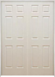 Mastercraft® X Primed Raised Prehung Interior Double Closet Door